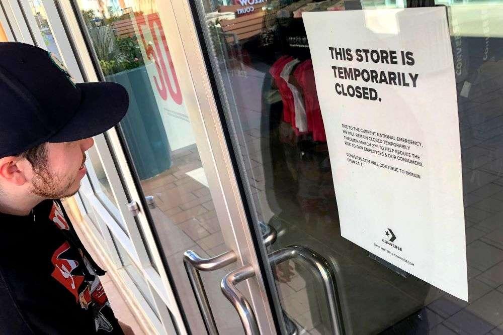 بسته شدن فروشگاهها به دلیل کرونا