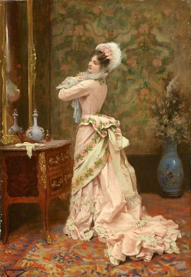 نقاشی از لباس زنان در گذشته