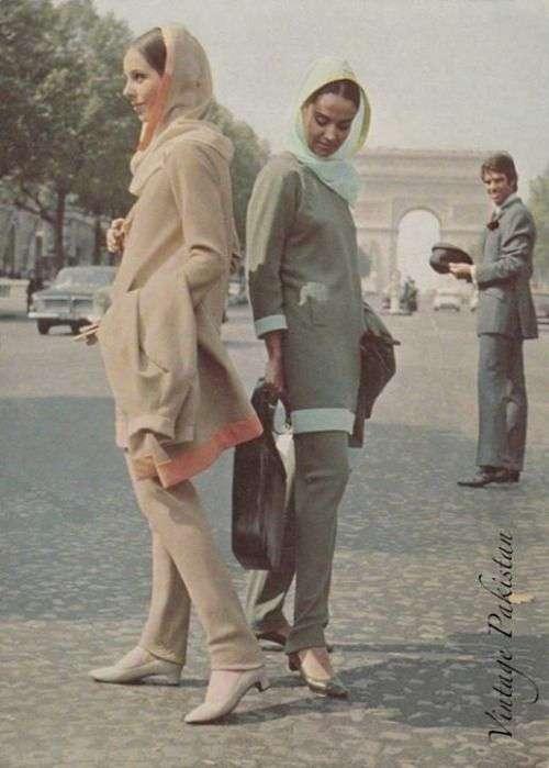 پوشش زنان و مردان پاکستانی در دهه 60 میلادی