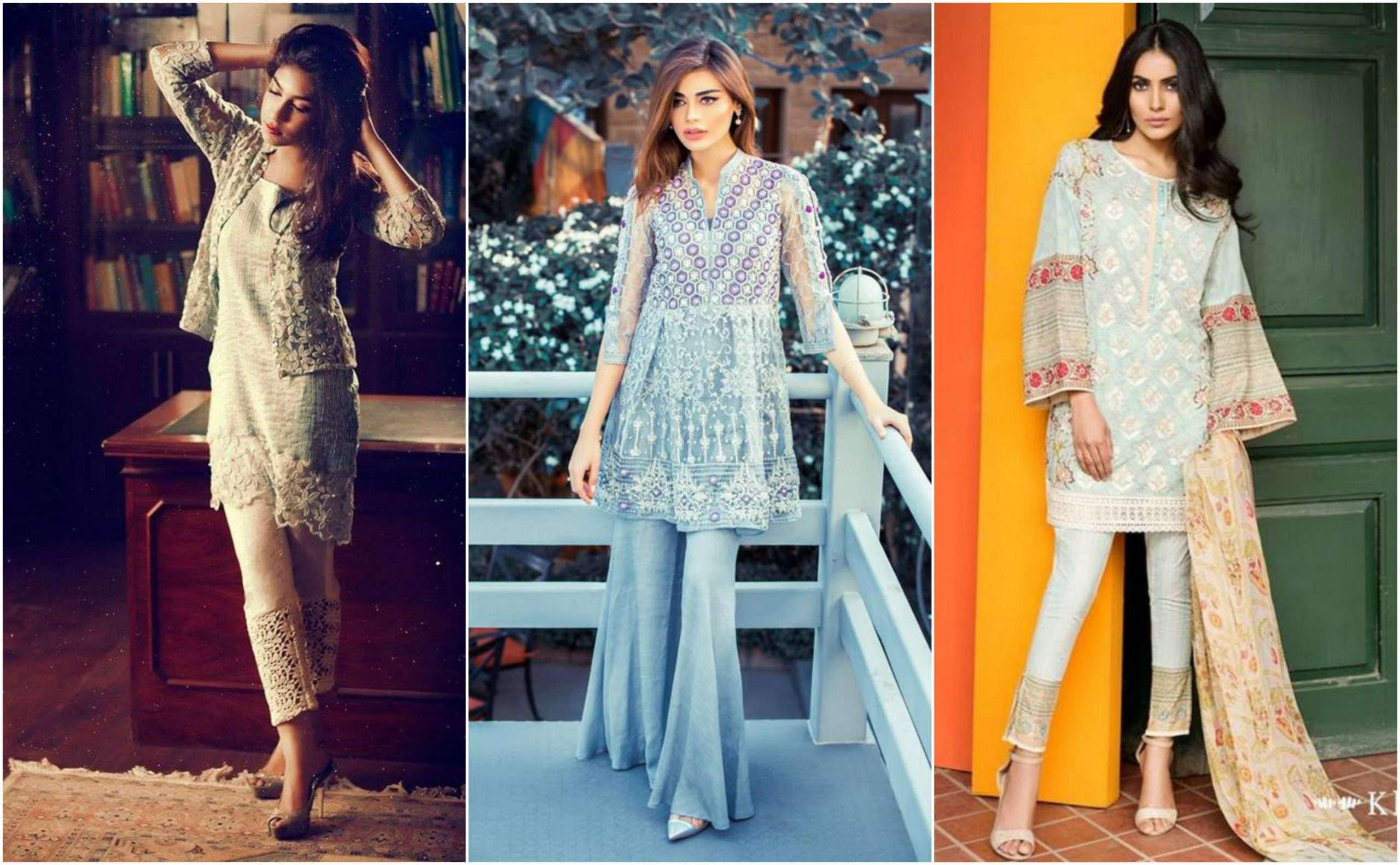 نمونههای مدرن پیراهن تنبان در فشن پاکستانی