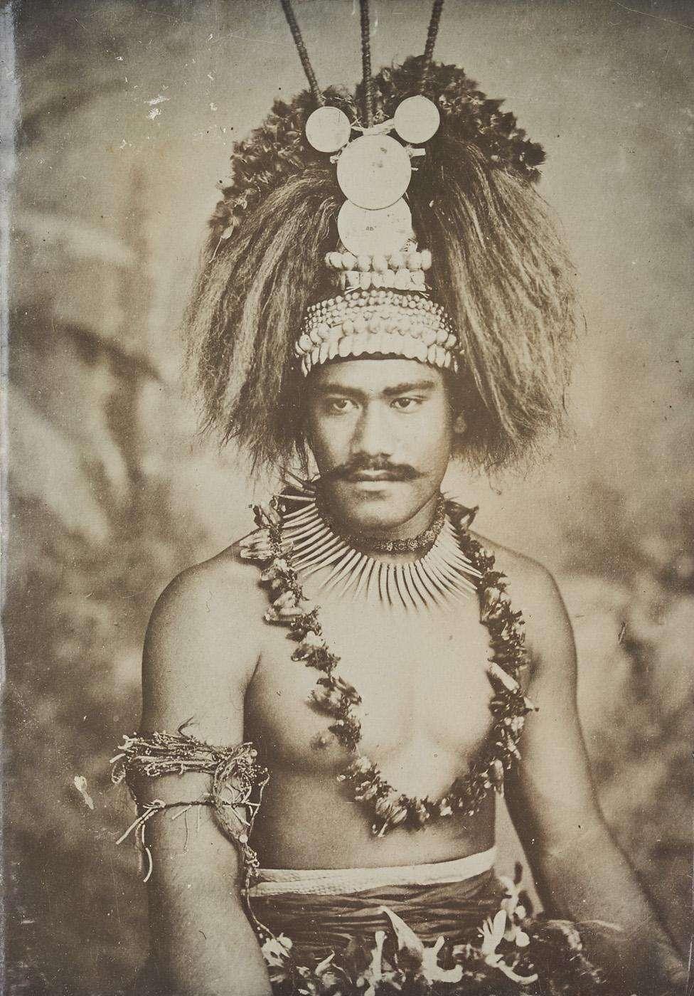 تصویری از یک رئیس قبیله ساموآیی