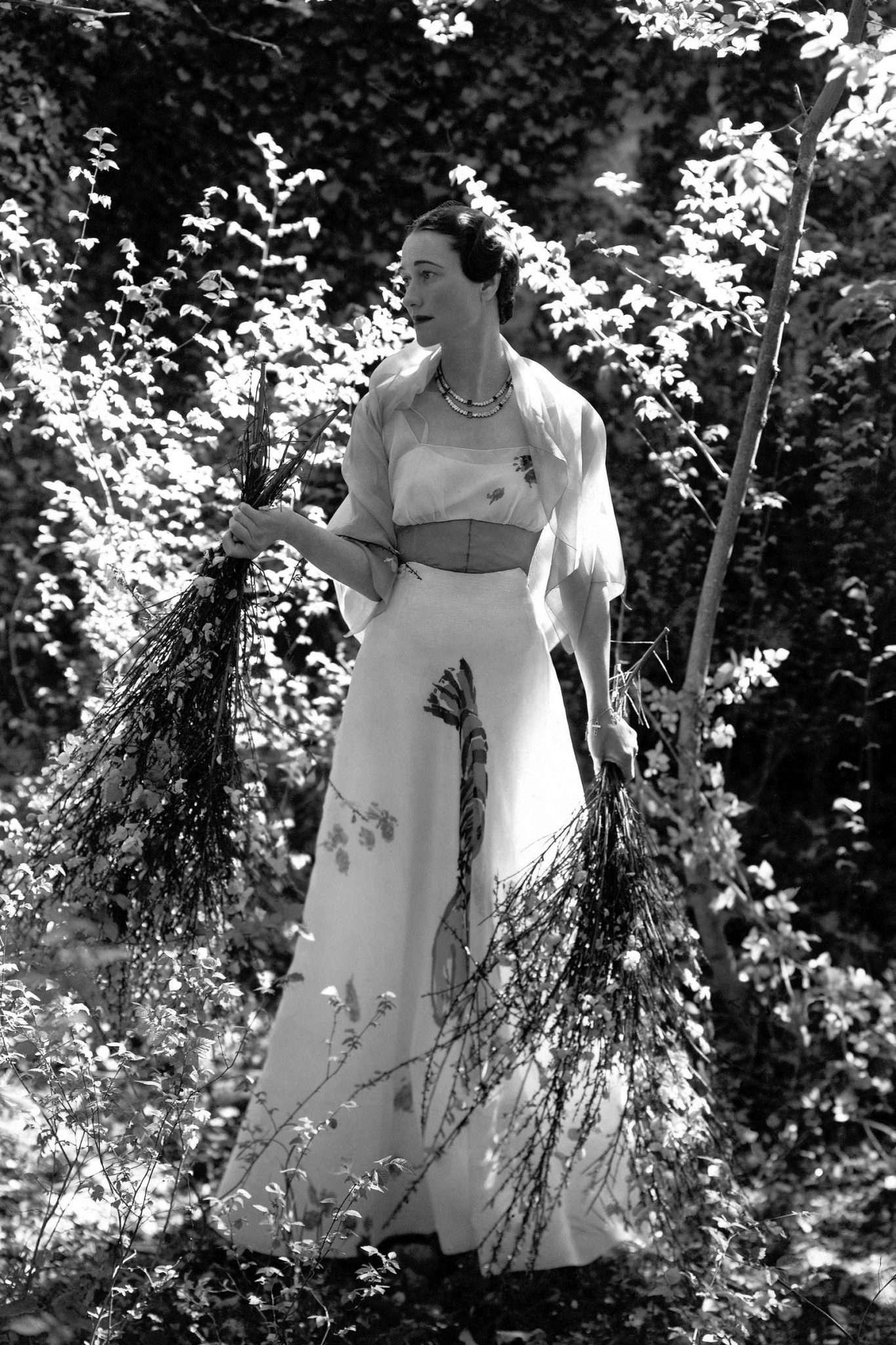 والیس سیمپسون و لباس شیاپرلی در فوتوشات مجله وگ
