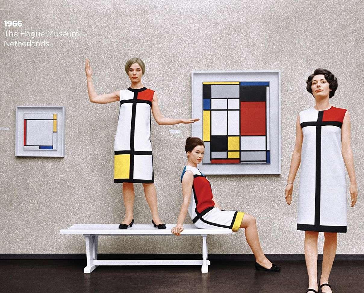 مجموعهی لباسهای موندریان در مجموعه  سال 1965 سن لوران